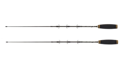 Equipped ice fishing rods for rainbow smelt