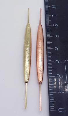 Sinker coated with brass, copper  8 g