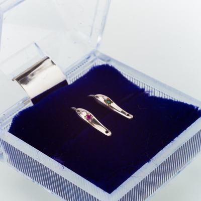 Набор серебряных блесен с кристаллами Swarovski